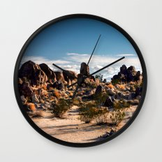 Desert Rocks Wall Clock