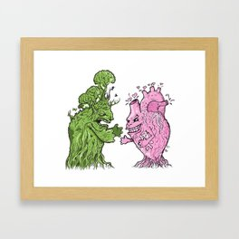 Nature vs Nurture Framed Art Print