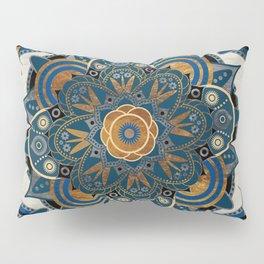 Mandala Blue and Gold Pillow Sham