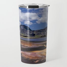 Iceland volcanic mountains at summer day Travel Mug