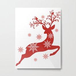 Vintage deers. Merry Christmas! Metal Print