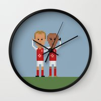 arsenal Wall Clocks featuring Bergkamp and Henry in Arsenal by 8bit Football