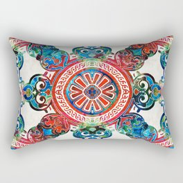 Vibrant Pattern Art - Color Fusion Design 4 By Sharon Cummings Rectangular Pillow