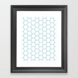 Honeycomb Blue #370 Framed Art Print