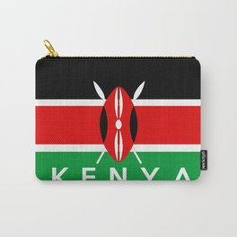 Kenya country flag name text Carry-All Pouch