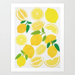 Lemon Harvest Art Print