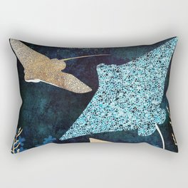 Metallic Stingray II Rectangular Pillow