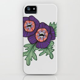 Delicate As A: Hollyhock iPhone Case