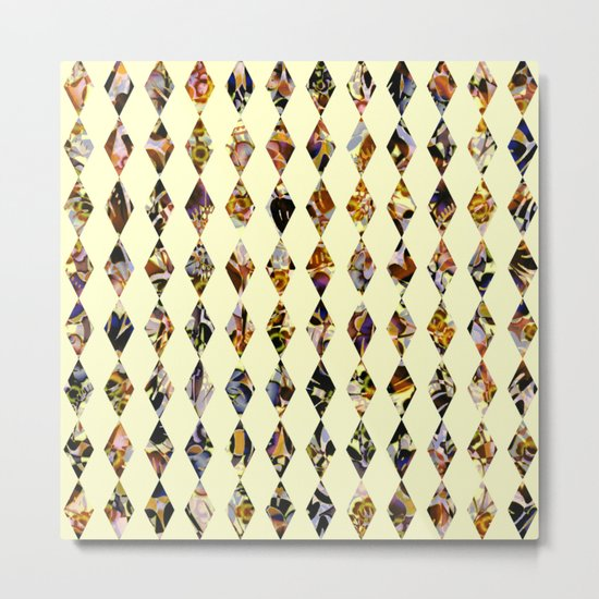luminous diamond shaped garland Metal Print