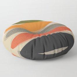 Mid-Century Modern Ovals Abstract Floor Pillow