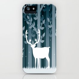 Snow Caribou iPhone Case