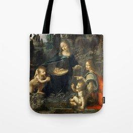 """Leonardo da Vinci """"The Virgin of the Rocks"""" (Louvre) Tote Bag"""