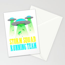 STORM SQUAD running team aliens, 5k fun run Stationery Cards