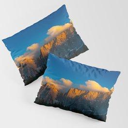 Amazing sunset at lago Di Fusine, Italy Pillow Sham