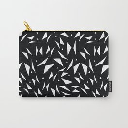 Modern black white geometrical abstract triangles Carry-All Pouch