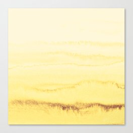 WITHIN THE TIDES - SUNNY YELLOW Canvas Print