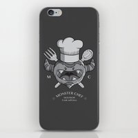 chef iPhone & iPod Skins featuring MONSTER CHEF by MostrOpi