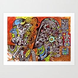 MAYA (outsider fine art illustration) Art Print