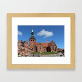 Vor Frue Kirke, Svendborg, Denmark Framed Art Print