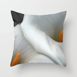Two Calla Lily Flowers Together Throw Pillow