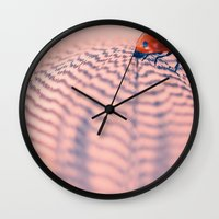 beetle Wall Clocks featuring beetle by Tanja Riedel