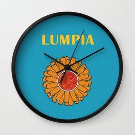 Filipino Kitchen Loteria - Lumpia Wall Clock