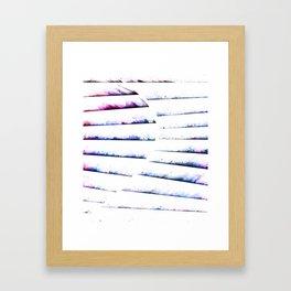 α White Crateris Framed Art Print