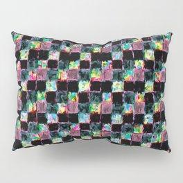 Multicolored Black Patchwork Pillow Sham