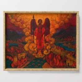 The Last Angel, 1912 by Nicholas Roerich Serving Tray