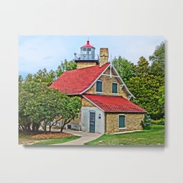 Eagle Bluff Lighthouse Metal Print