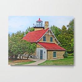 Eagle Bluff Lighthouse Metal Print