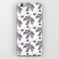 Floral pattern horse-chestnut iPhone & iPod Skin