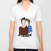 sterek V-neck T-shirts featuring Sterek #1 by liloloveyou024