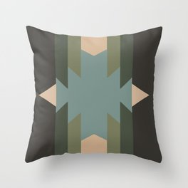 Green Star  - does it belong in the Forest or in the Space?? Throw Pillow