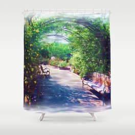 Rosy Bower Shower Curtain