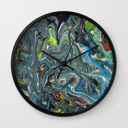 Abstract Oil Painting 24 Wall Clock