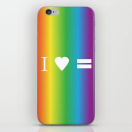 I heart Equality iPhone Skin