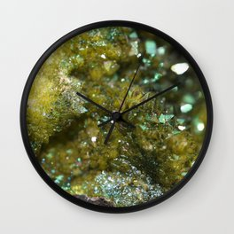 Geode Abstract Citrine Wall Clock