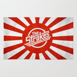 The Strokes Logo Welcome To Japan Rug