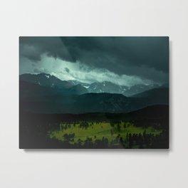 Gloomy Landscape Secret Green Field Metal Print