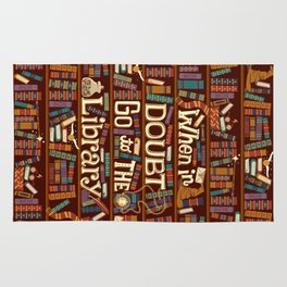 Go to the library Rug