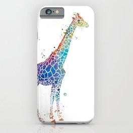 Blue Giraffe iPhone Case