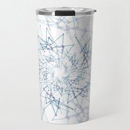 blue espiral Travel Mug