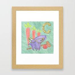 C is for Cuttlefish Framed Art Print