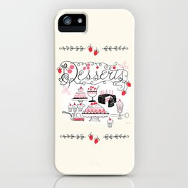 Midcentury Recipes Make Sweet And Lovely Vintage Desserts iPhone Case