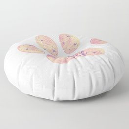 Adopt don't shop galaxy paw - pastel pink and ultraviolet Floor Pillow