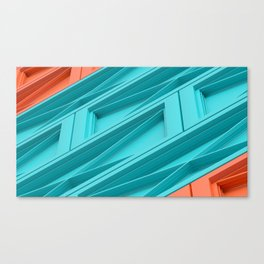 Construct Blue & Orange Canvas Print