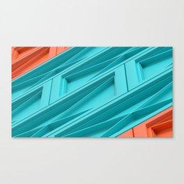 Construct Blue & Orange Canvas Print