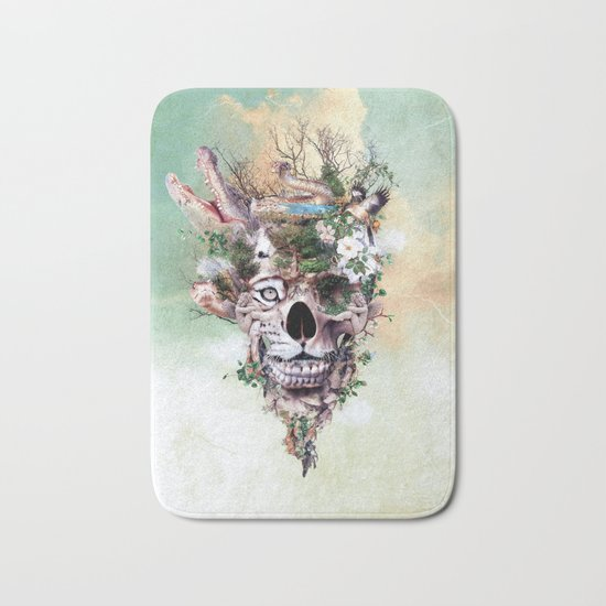 Nature Skull II Bath Mat