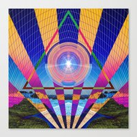 stargate Canvas Prints featuring STARGATE II by Adam Yasmin